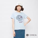 CHICA 初夏野玫女孩奇想圖騰上衣(3色)