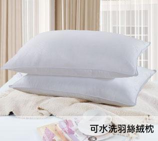 【柔得寢飾】ZEN 可水洗 羽絲絨枕(2入) ZPH01