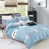 美夢元素 台製-精梳棉-兩用被床包組-靜水湖畔 (單人)