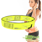 (夜殺)【FlipBelt】美國飛力跑運動腰帶(螢光黃) 運動 路跑  三鐵 馬拉松