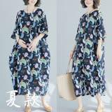 【Maya 名媛】XL~2XL薄絲綿舒適洋裝20180508-7