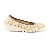 The FLEXX - MEL A DRAMA/VACCHETTA BABY VACC 沙丘/米黃 洞洞 牛皮 楔型鞋(A206_22_475013)
