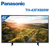 Panasonic國際牌 43吋 4K 聯網液晶顯示器+視訊盒(TH-43FX600W)送三合一魔法包(原廠送2018/4/12~2018/8/20止)