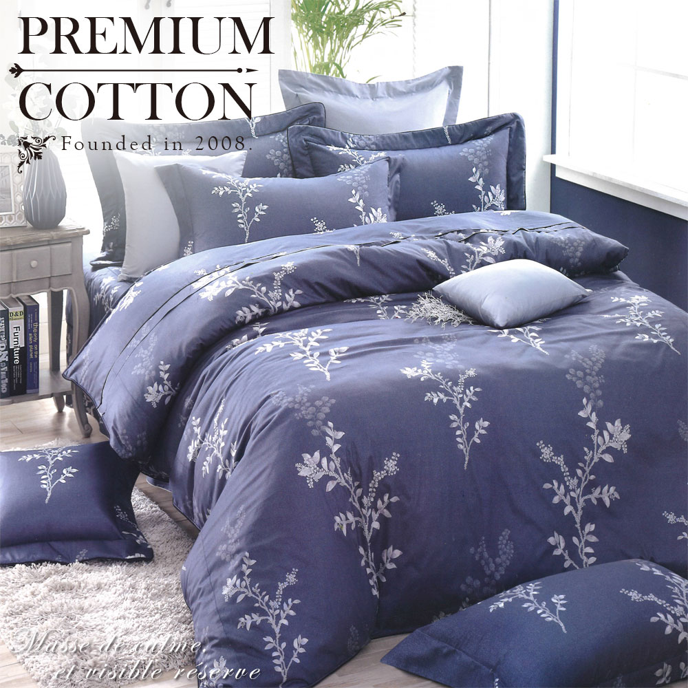 《DUYAN 竹漾》100%精梳棉雙人加大六件式床罩組-微醺情 台灣製