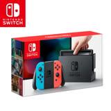 任天堂 Nintendo Switch主機組合-電光藍&電光紅(台灣公司貨)