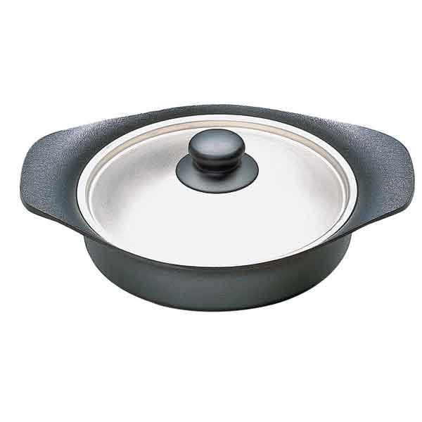 【日本柳宗理】南部鐵器 / 雙耳淺鍋22cm(附不鏽鋼蓋)