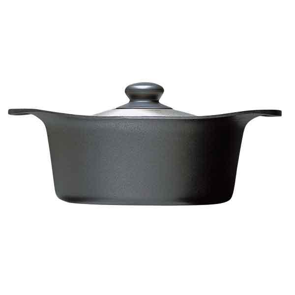 【日本柳宗理】南部鐵器 / 雙耳深鍋22cm(附不鏽鋼蓋)