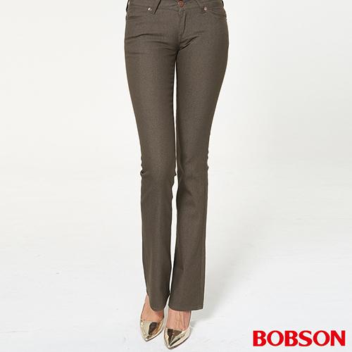 BOBSON 女款超低腰伸縮小喇叭褲(942-71)