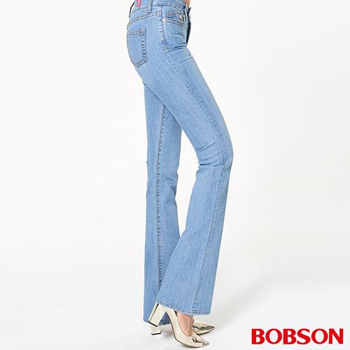 BOBSON 女款低腰伸縮中喇叭褲 (944-58)