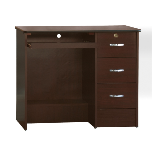AS-格納3尺胡桃電腦桌(下座)-90x56.5x75.5cm