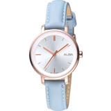 ALBA雅柏 Fashion lady簡單女孩流行手錶(AH8486X1)-湖水綠32mm