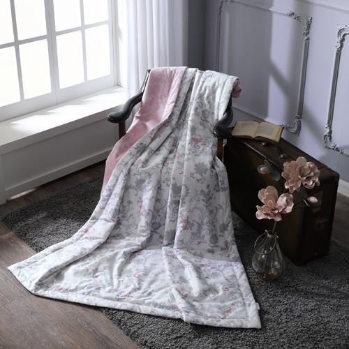 BBL 暖香綻放 100%精梳棉.印花單人涼被