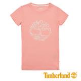 Timberland 女士大樹圖案 T 恤-粉