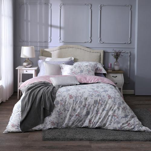 BBL 暖香綻放 100%精梳棉.印花加大兩用被床包組