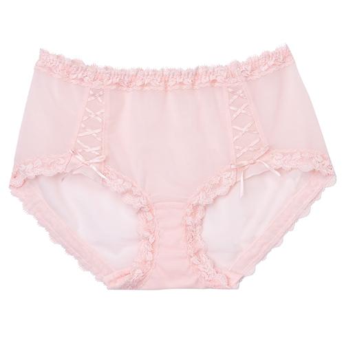 摩奇X-美麗挺魔力系列 M-LL 中腰平口款內褲(粉)修飾包臀-透氣蕾絲-無痕