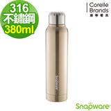 (任選)康寧Snapware 316不鏽鋼超真空保溫萊德瓶380ml-金