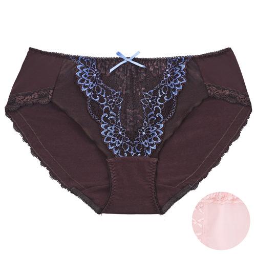摩奇X-美麗挺魔力系列 M-3L 中腰三角內褲(粉)修飾包臀-透氣蕾絲-無痕