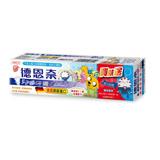 【德恩奈】兒童牙膏90g(水蜜桃) 加贈探險活寶公仔鑰匙圈-管家