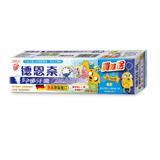 【德恩奈】兒童牙膏90g(水蜜桃) 加贈探險活寶公仔鑰匙圈-老皮