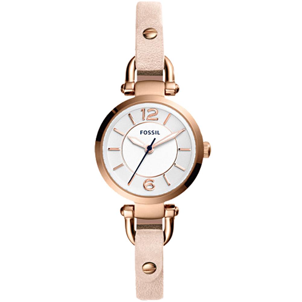 FOSSIL 纖細優雅石英女錶 皮革錶帶 防水50米 ES4340