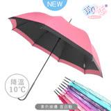 【日本雨之戀】散熱降溫10度-素色直自動傘-豆沙色-晴雨傘/抗UV/不透光/撞色