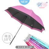 【日本雨之戀】散熱降溫10度-素色直自動傘-桃紅色-晴雨傘/抗UV/不透光/撞色
