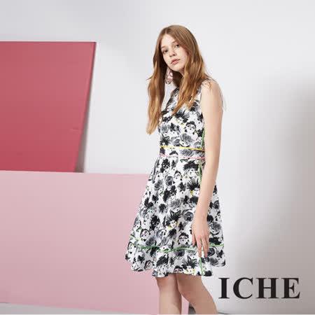 設計趣味印花時尚造型禮服洋裝