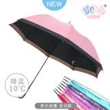 【日本雨之戀】散熱降溫10度-素色直自動傘-甜粉色-晴雨傘/抗UV/不透光/撞色