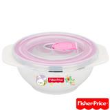 費雪Fisher-Price 雙耳不銹鋼兒童餐具碗附湯匙250ml(粉)