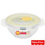 費雪Fisher-Price 雙耳不銹鋼兒童餐具碗附湯匙250ml(黃)