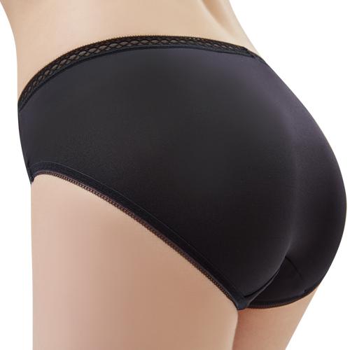 【思薇爾】Tour-Dry系列M-XXL素面中腰三角內褲(黑色)