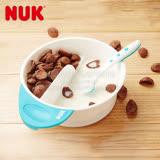 德國NUK-趣味雙格副食品哺餵小碗(顏色隨機出貨)