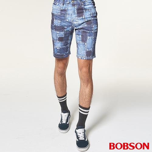 BOBSON 男款低腰吸濕速乾印花短褲     (237-53)