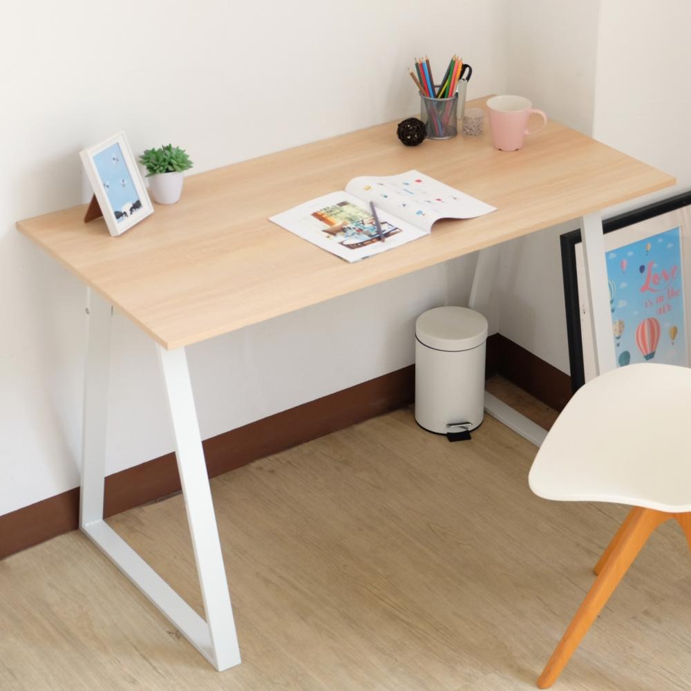 EASY HOME-防潑水/耐磨加寬電腦工作桌(原木色)