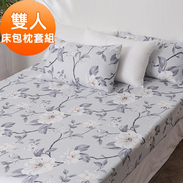 J-bedtime【純雅芙蓉】牛奶絨雙人三件式床包組