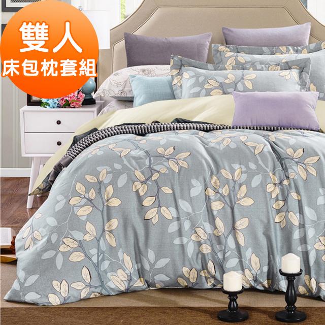 J-bedtime【小葉物語】牛奶絨雙人三件式床包組