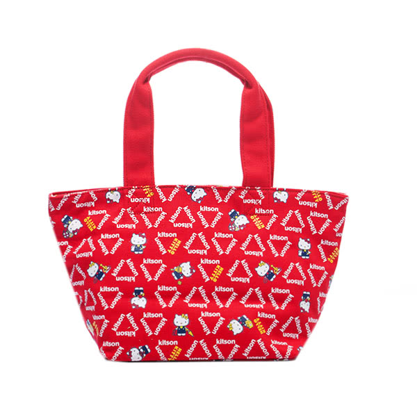 Kitson x Kitty - Loves LA 聯名系列 帆布托特包(RED)
