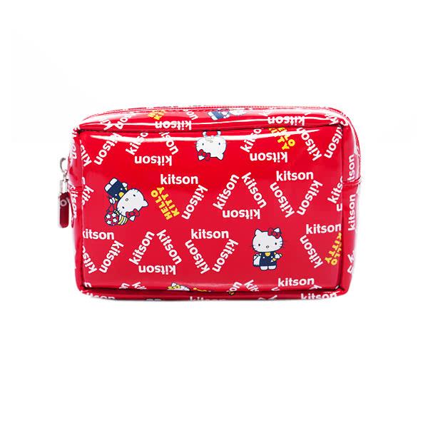 Kitson x Kitty - Loves LA 聯名系列 化妝包(RED)
