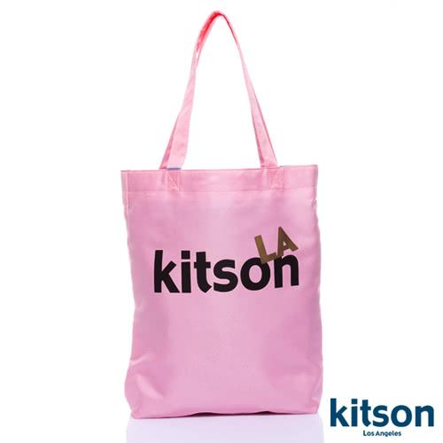 Kitson L.A.-LOGO購物袋/托特包 粉紅
