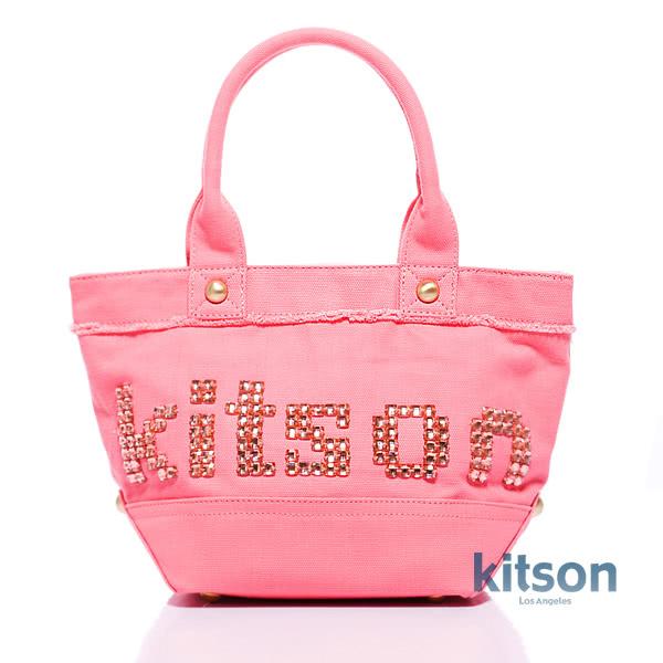 Kitson 晶透串珠托特包 PINK