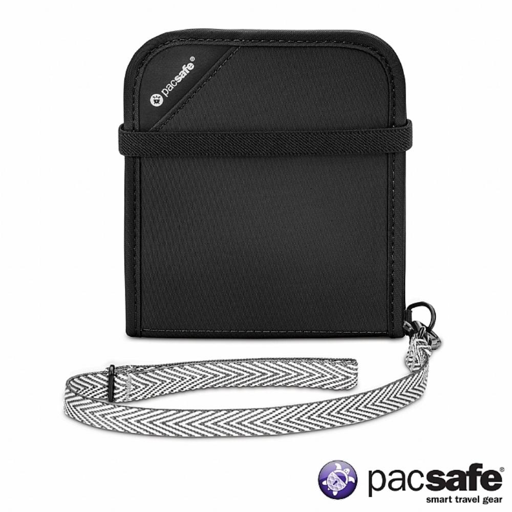 Pacsafe RFIDSAFE V100 防盜皮夾 (黑色)