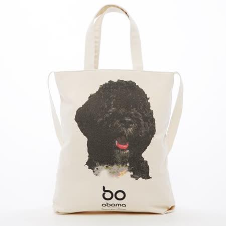 Kitson 白宮愛犬小Bo圖案帆布包