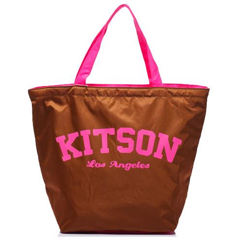 Kitson 美式學院風寬口型托特包(BROWN)