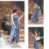 【Kate Classic 】夏日波希米亞風碎花無袖洋裝DS233
