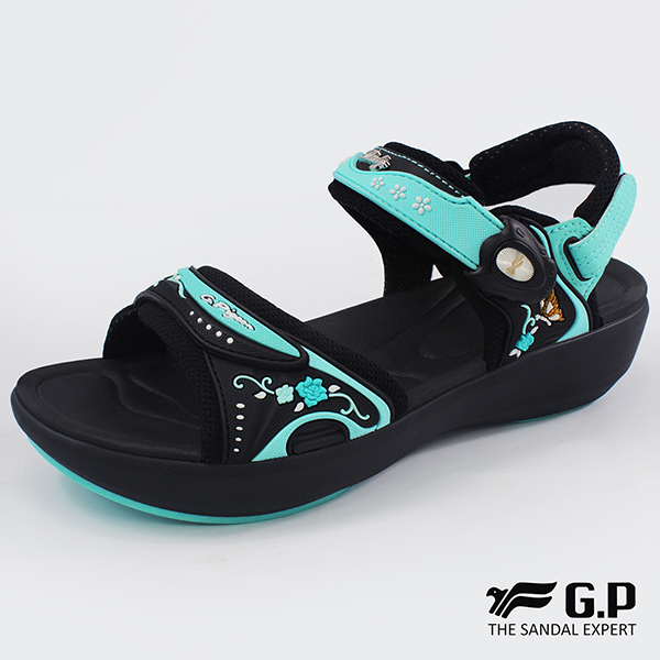 【G.P 女款紓壓緩震厚底磁扣兩用涼拖鞋】G8686W-水藍色(SIZE:35-39 共二色)