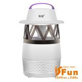 【iSFun】高效能吸入*炫風發光USB補蚊燈/隨機色