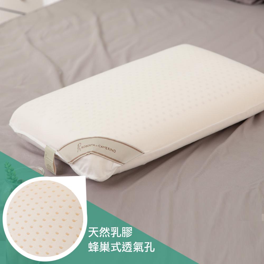 【ROBERTA  DI  CAMERINO諾貝達】100%天然乳膠平面麵包枕