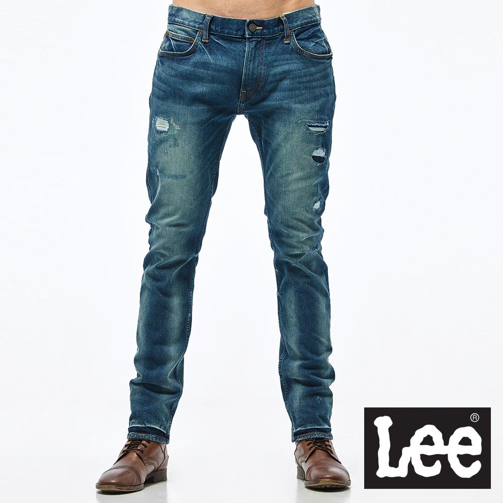Lee 低腰合身小直筒牛仔褲/VL-男款-藍