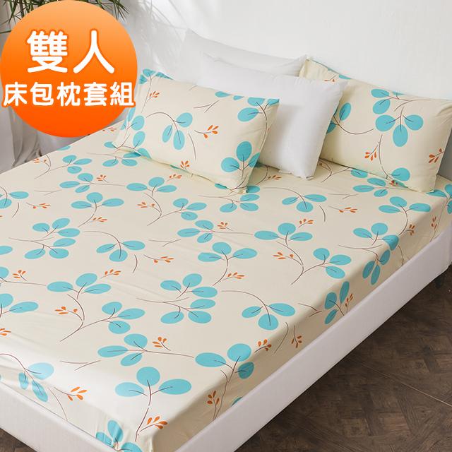 J-bedtime【蔓舞莊園】牛奶絨雙人三件式床包組