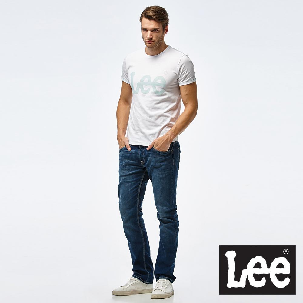 Lee 點狀LOGO印刷圓領短TEE/RG-男款-白